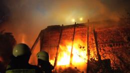 Scheunenbrand im vollen Ausmaß