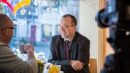Foto Björn Fry: Manfred Lehmann im Gespräch mit Ruhrkanal TV