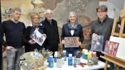 Stephan Marienfeld, Gudrun Schwarzer, Egon Stratmann, Beate Schiffer und Thomas Koch hoffen, dass viele Interessierte an der Ausstellung mitwirken möchten (Foto: Stadt Hattingen)