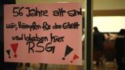 Protest an der Aulatür (Foto: RuhrkanalNEWS)