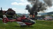 Der neue Löschflug-Helikopter D-HERKI in Hattingen (Foto: RuhrkanalNEWS)