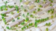 Modell der neuen und  der sanierten Häuser in Niederwenigern (Foto: hwg)