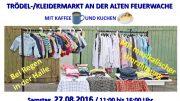 Trödelmarkt an der alten Feuerwache (Plakat: Flüchtlingshilfe Hattingen)