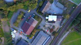 Luftaufnahme vom Einsatzort, (Foto: RuhrkanalNEWS)