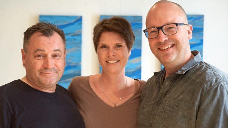 Filmemacher Claus J. Barteczko und Frank Strohdiek und die Stimme des Films Katrin Boers (Foto: Holger Grosz)