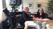 Frank Strohdiek von ruhrkanalNEWS im Gespräch mit Beate Schiffer (Foto: ruhrkanalNEWS)