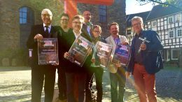 Uwe Crone, Birgit Crone, Udo Polenske, Martin Funda, Dagmar Krügel-Ladinig, Ludwig Nelles und Frank Bottenberg (Foto: ruhrkanalNEWS)