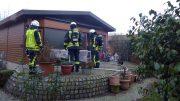 Brand eines Mobilheims an der Tippelstraße (Foto: FW Jens Herkströter)