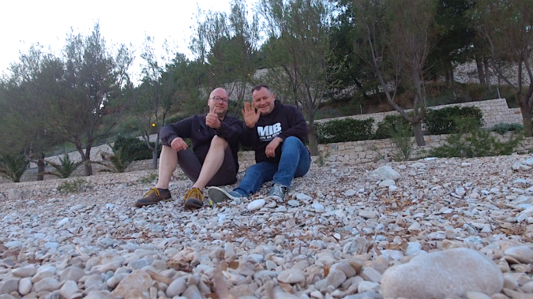 """Frank Strohdiek und Claus J. Barteczko im """"irgendwo"""" zwischen Split und Dubrovnik (Foto: RuhrkanalNEWS)"""