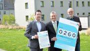 Dr. David Wilde, Vorstandsvorsitzender der hwg, Dr. Heinrich Dornbusch, Geschäftsführer der KlimaExpo.NRW und Guido Zander, Projektleiter. (Foto: HWG)