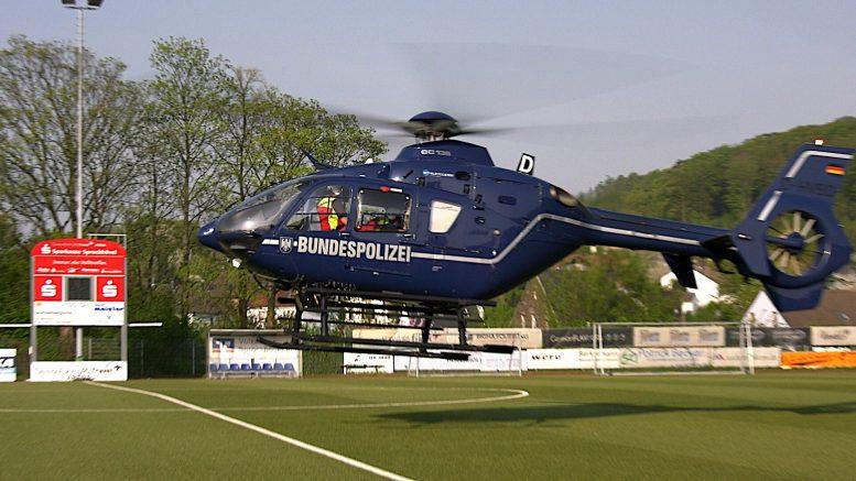 Die Bundespolizei übernahm einen Rettungseinsatz (Foto: RuhrkanakNEWS)